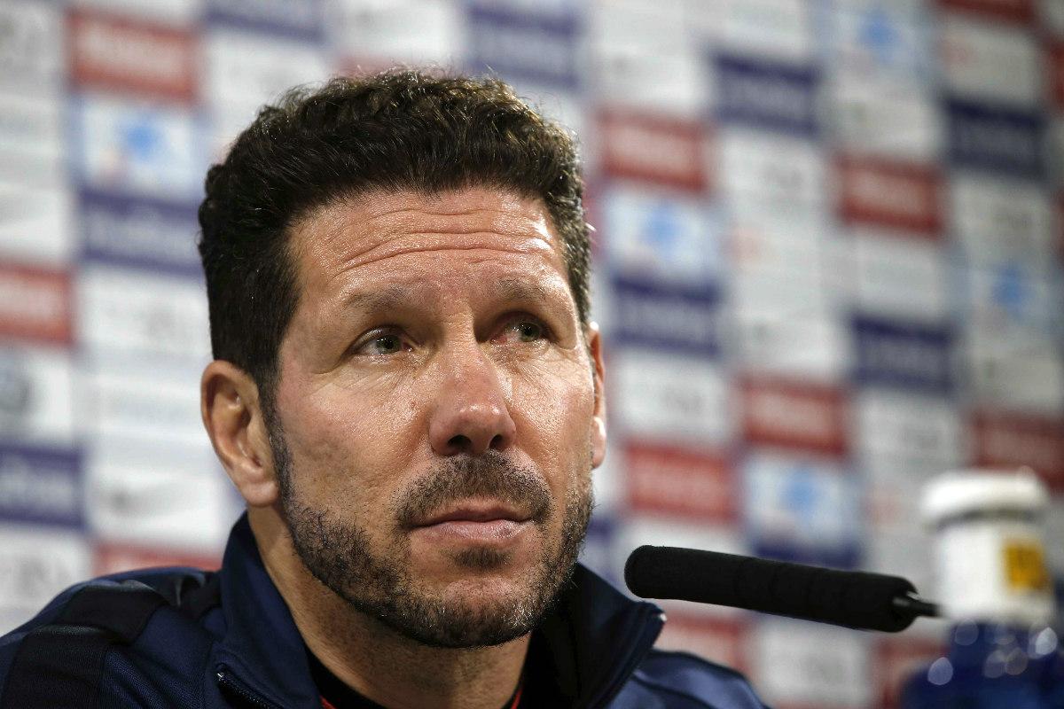 Simeone compareció en rueda de prensa para analizar el partido ante el Athletic. (EFE)