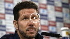 Simeone compareció en rueda de prensa para analizar el partido ante el Sevilla. (EFE)