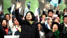 Tsai ing-wen celebra la victoria (Foto: AFP).