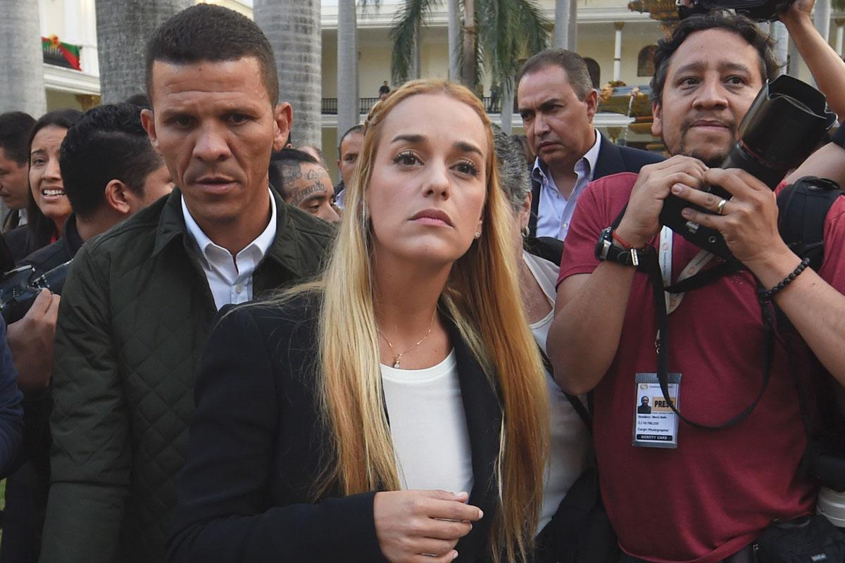 Lilian Tintori, esposa del opositor encarcelado Leopoldo López. (Foto: AFP)