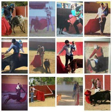 Varios toreros han compartido fotos toreando con sus hijos.