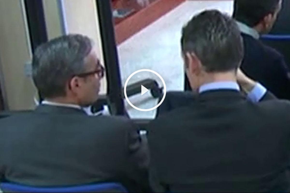 Torres y Urdangarin, sentados uno al lado del otro en la primera vista del juicio.