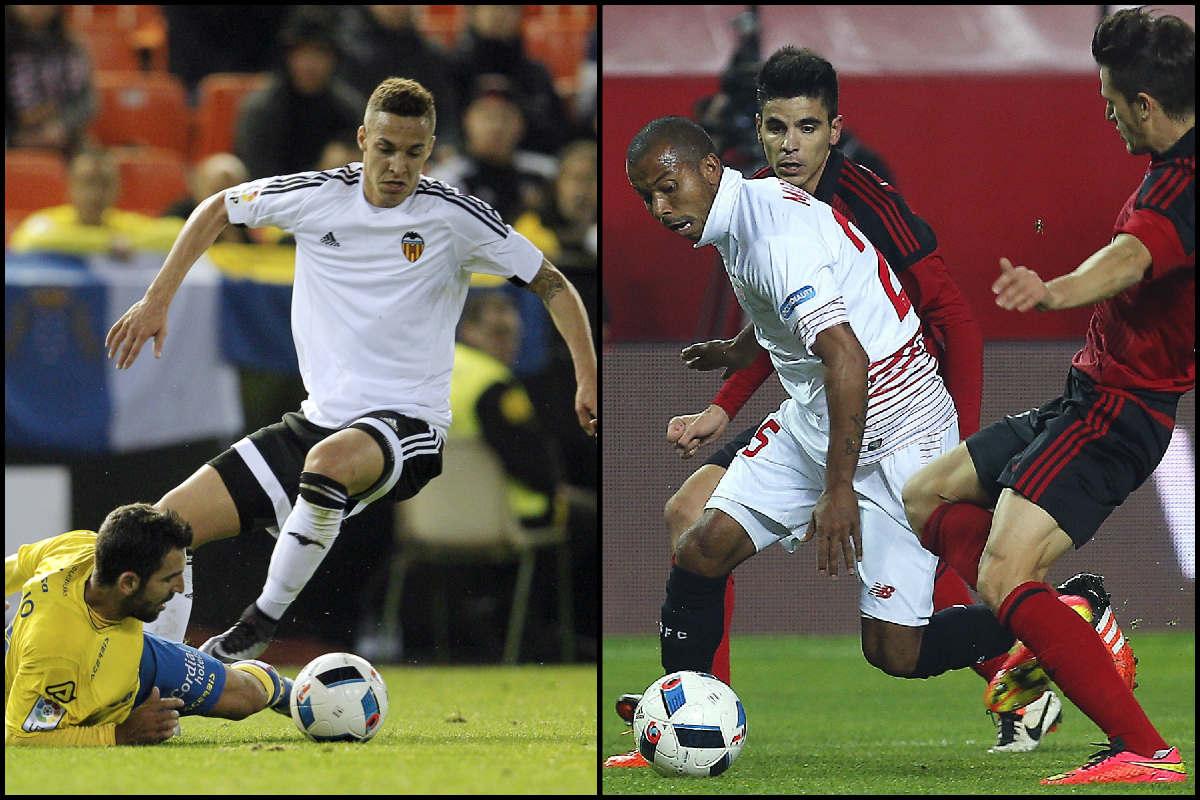 El Valencia se midió a Las Palmas (AFP) y el Sevilla, al Mirandés (EFE).