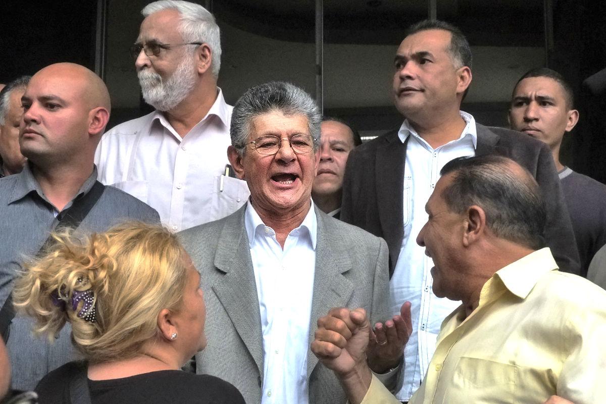 El nuevo  presidente del Parlamento venezolano, Henry Ramos Allup (Foto: AFP).