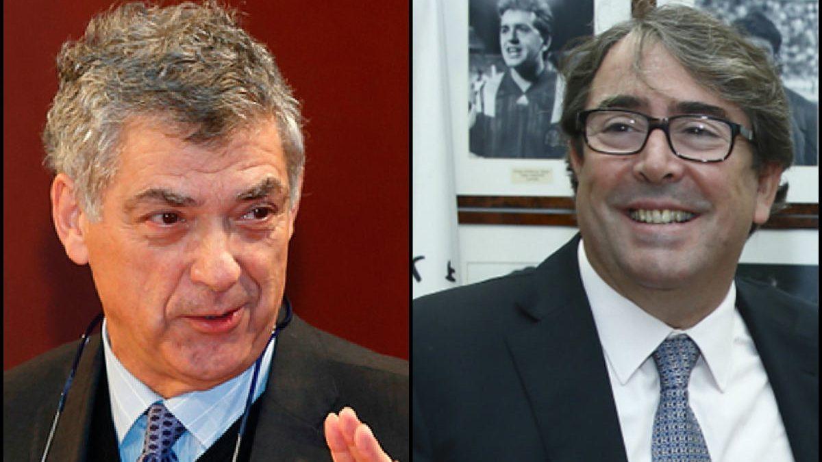 Ángel María Villar y Jorge Pérez. (Imágenes: sefutbol.com)