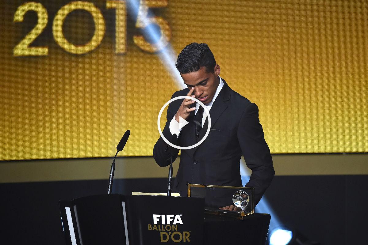 Wendell Lira gana el premio Puskas. (AFP)