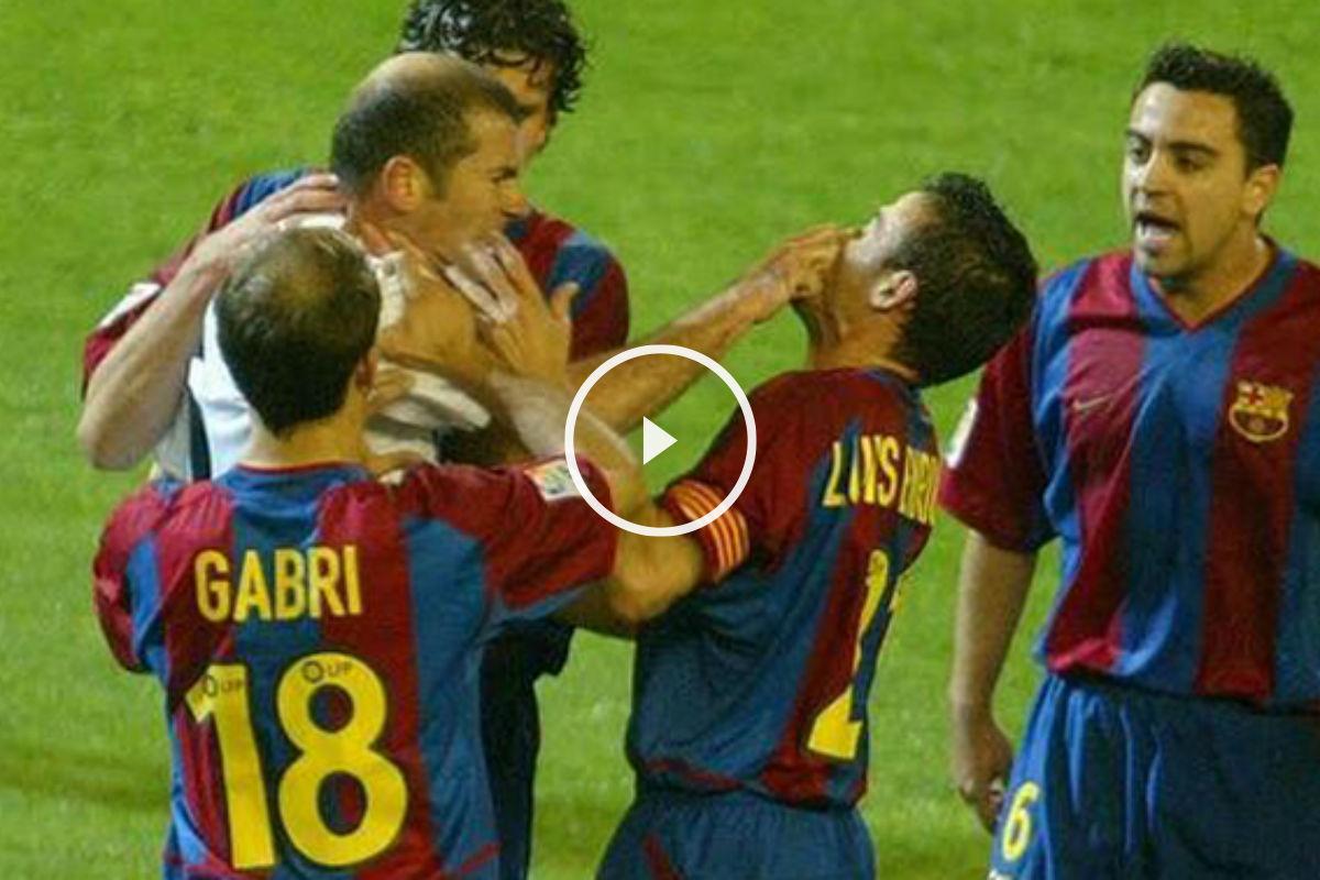 Zidane y Luis Enrique protagonizaron una tangana en un Clásico.
