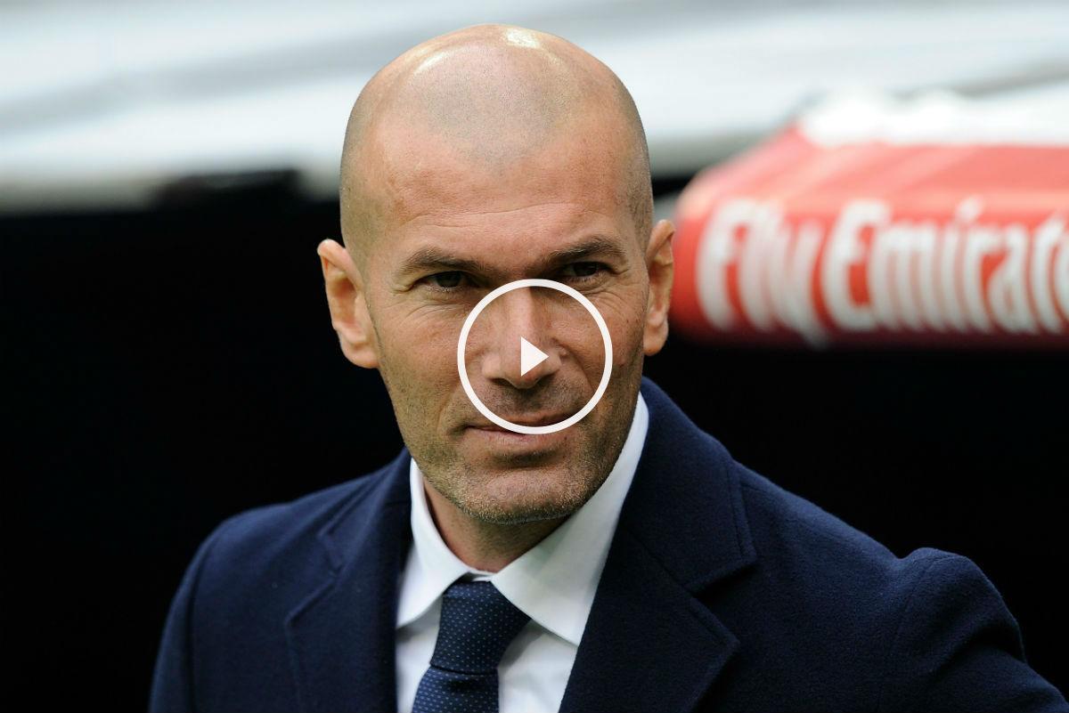 Zidane, en el partido contra el Sporting. (Getty)