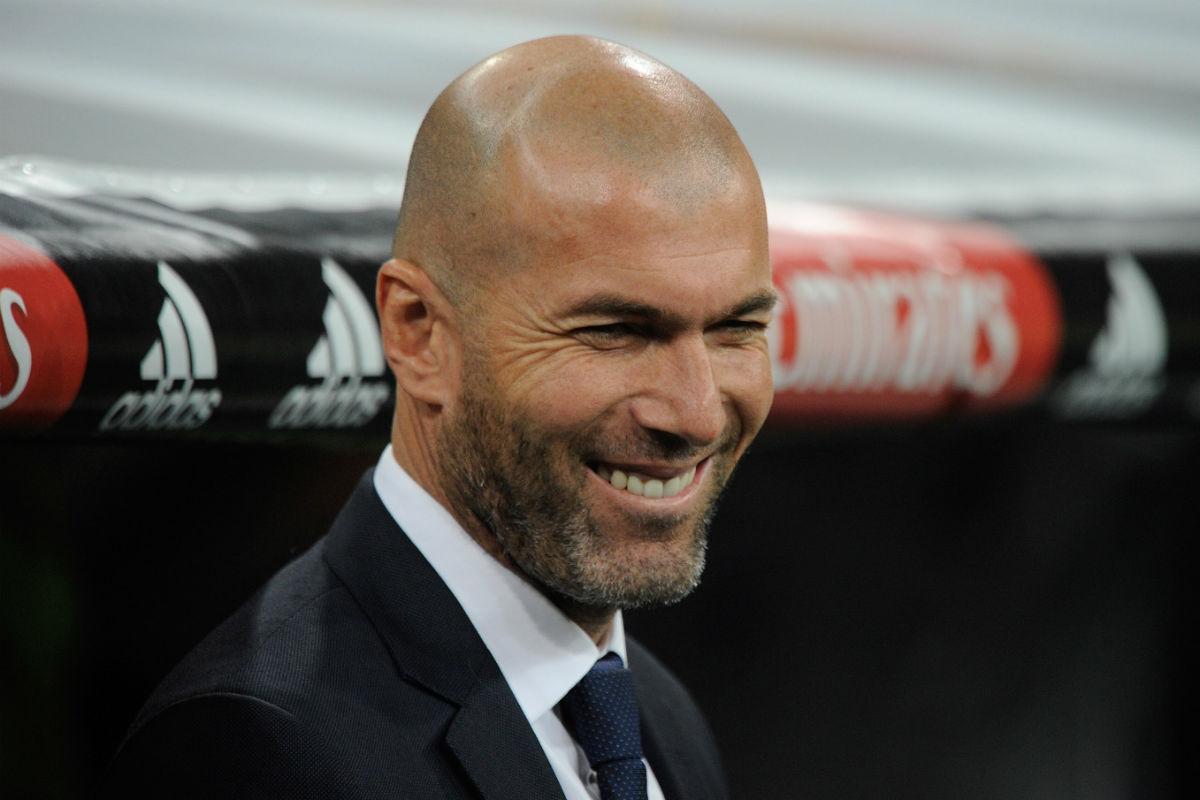 Zinedine Zidane, contento tras una nueva victoria. (Getty)