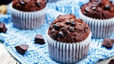 Receta de muffins de chocolate con chips de chocolate