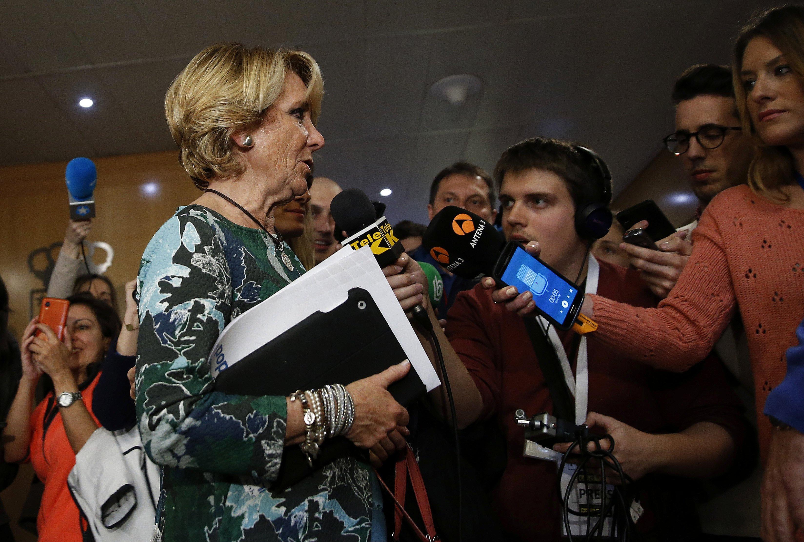 Esperanza Aguirre, el viernes ante la comisión de investigación de la Asamblea de Madrid (Foto: EFE)