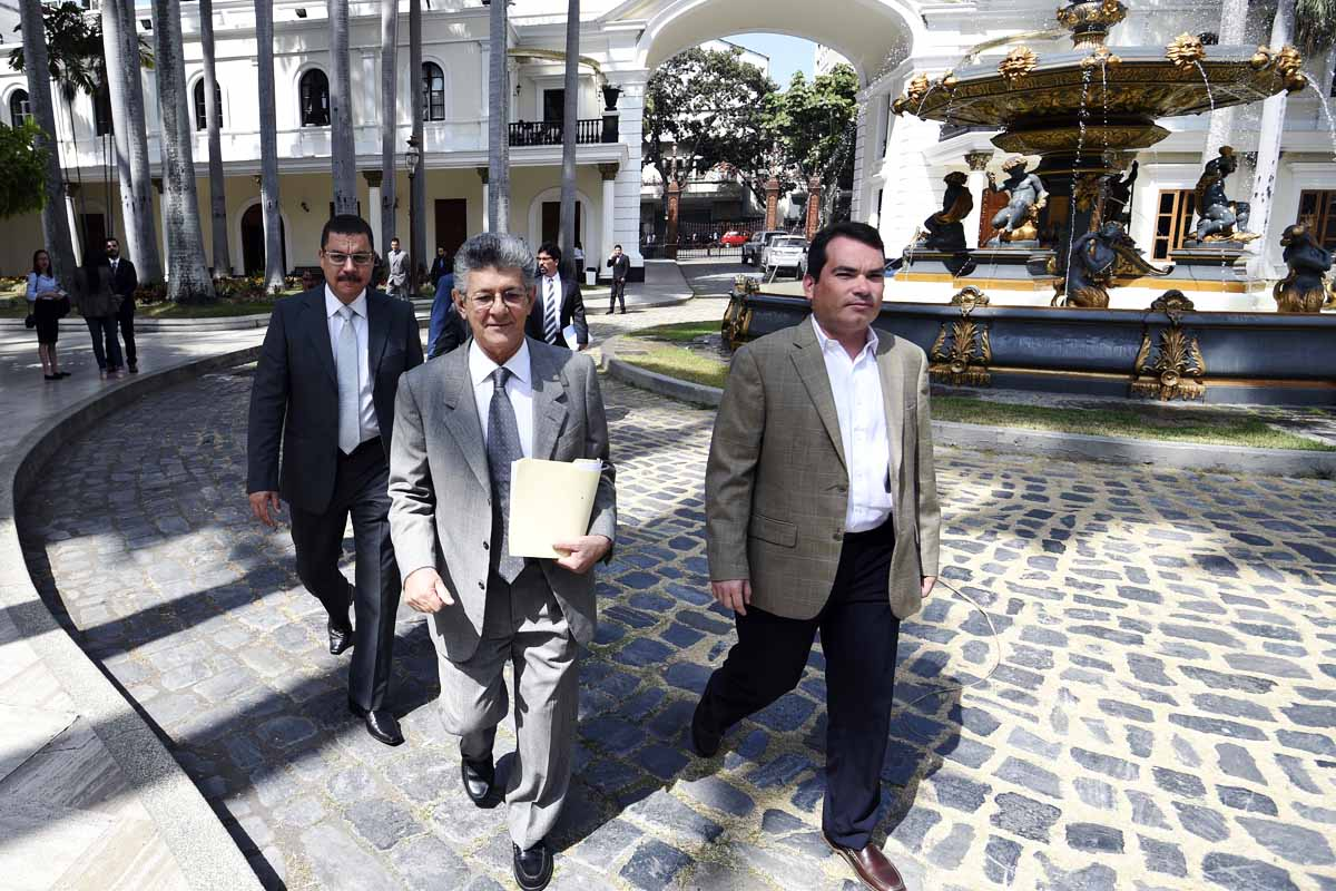 Henry Ramos Allup, presidente de la Asamblea Nacional de Venezuela (Foto: AFP)