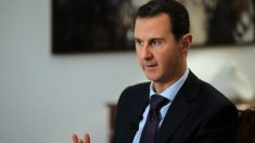 Assad, durante una entrevista en el palacio presidencial de Damasco. (Foto: AFP)