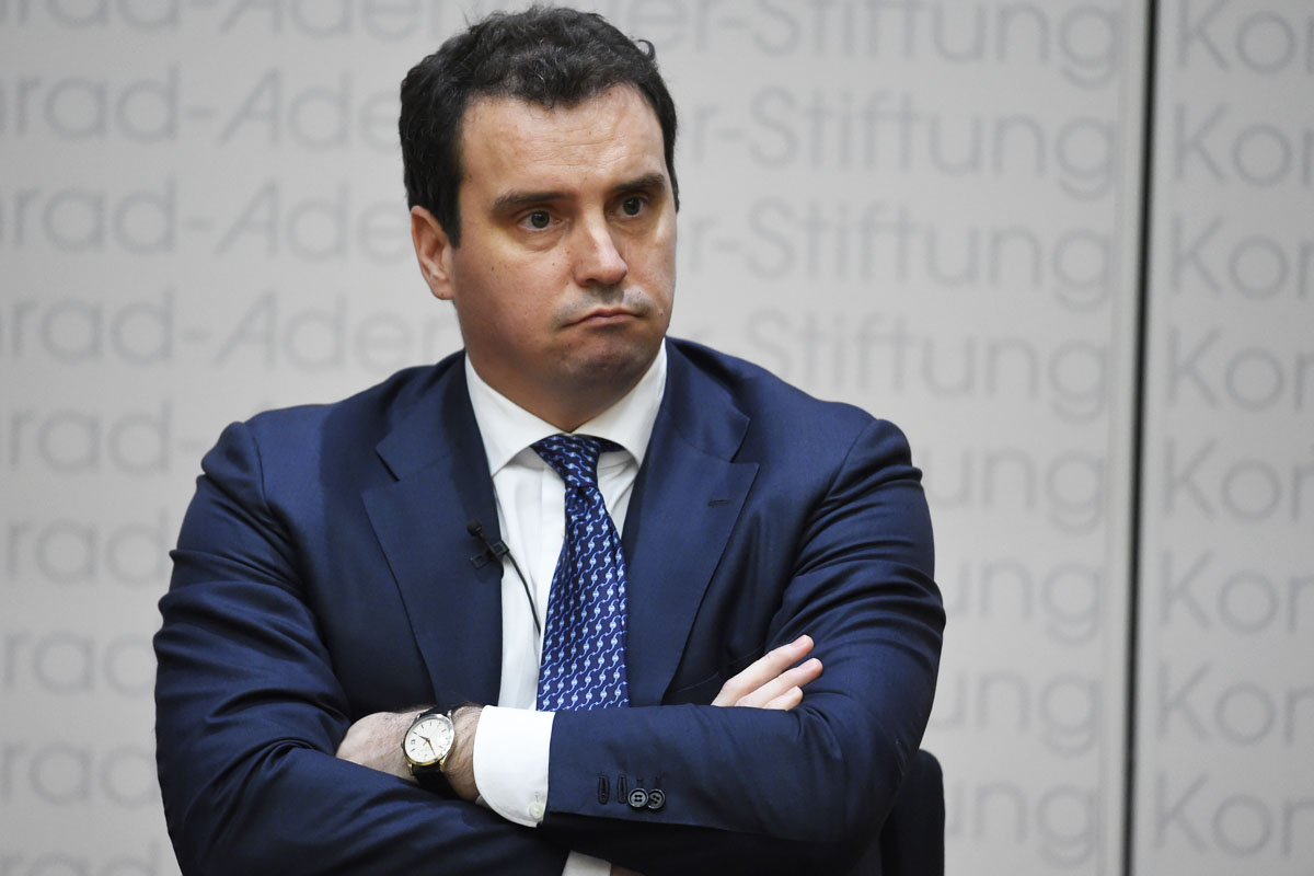 El ministro de Economía de Ucrania, Aivaras Abromavicius, durante un foro europeo. (Foto: AFP)