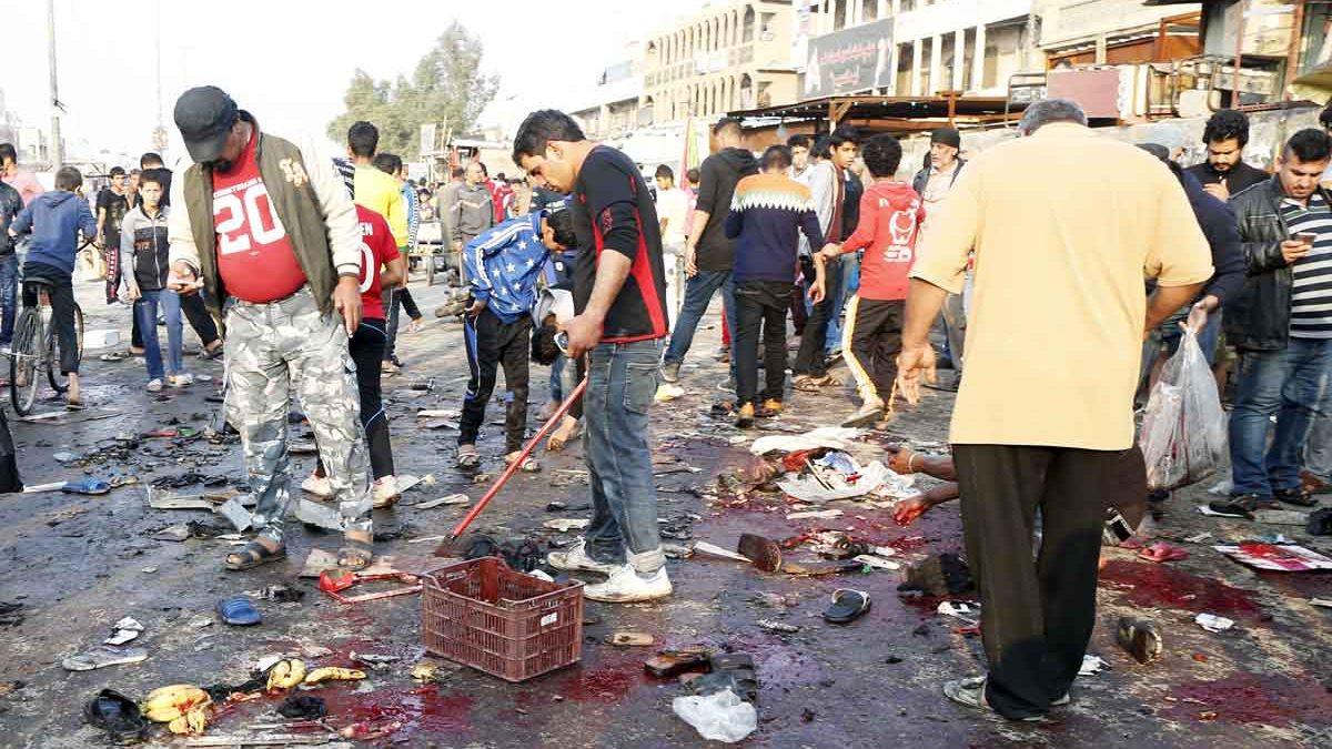 La sangre volvió a inundar Bagdad en otro atentado del Estado Islámico (Foto: Reuters)