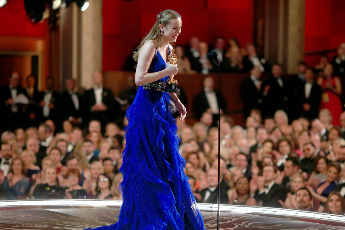 Brie Larson logró la estatuilla a la mejor actriz (Foto: Getty)