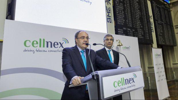El presidente y el consejero delegado de Cellnex el día de la salida a Bolsa de la compañía. (Foto: Cellnex)