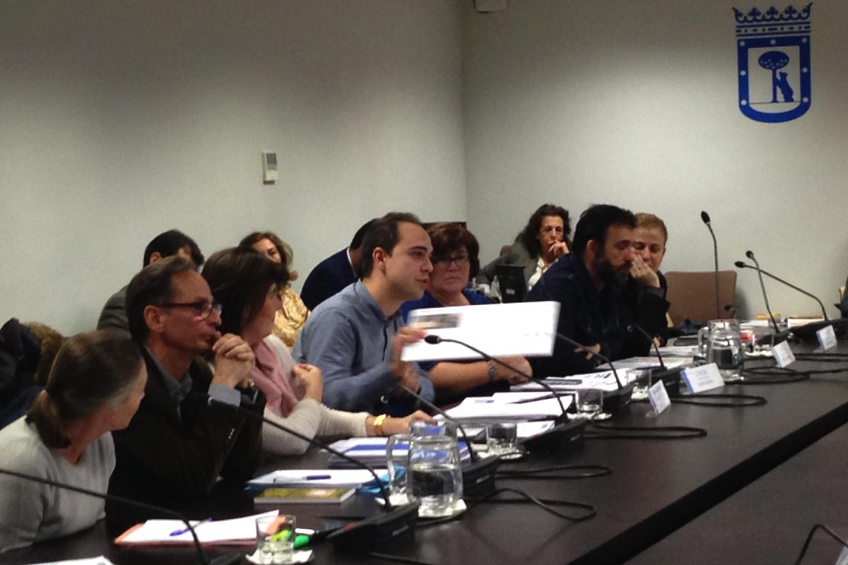 El Concejal de Desarrollo Sostenible Calvo en la Comisión. (Foto: OKDIARIO)