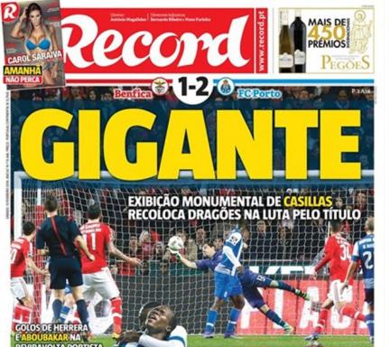 La prensa portuguesa destacó la actuación de Casillas.