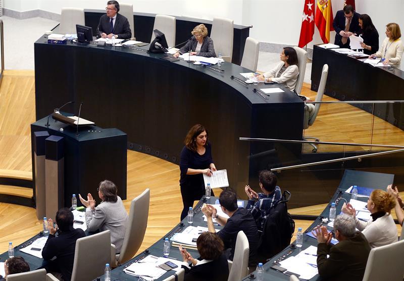 Celia Mayer en el pleno en el Palacio de Cibeles (Foto: EFE)