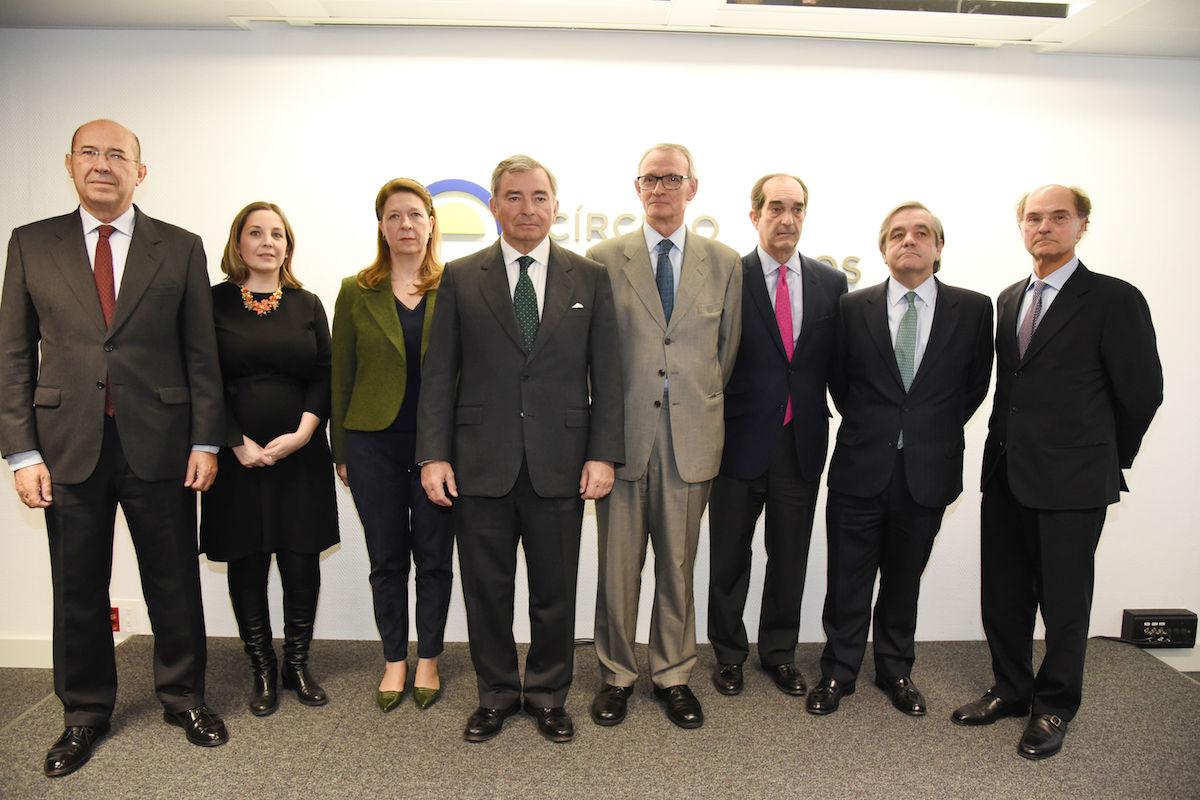 Representantes de las asociaciones empresariales integrantes del grupo Economía y Sociedad.
