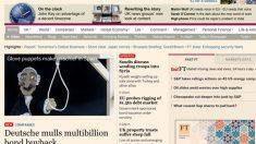 Portada de la versión digital del Financial Times.