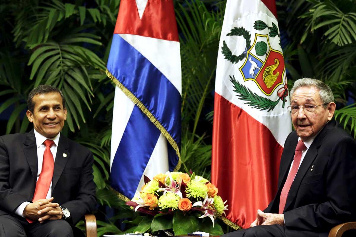 Ollanta Humala, reunido recientemente con Raúl Castro (Foto: Reuters)