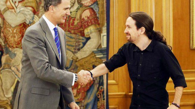 Pablo Iglesias y Felipe VI