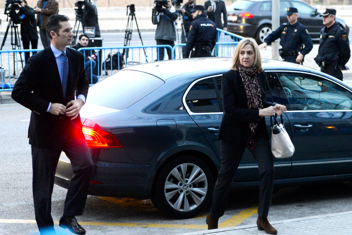 Iñaki Urdangarin y la Infanta Cristina acuden a la celebración del juicio (Foto: Getty)