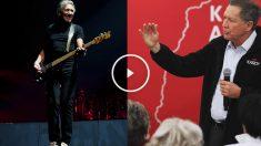 John Kasich y Roger Waters (Fotos: Getty)