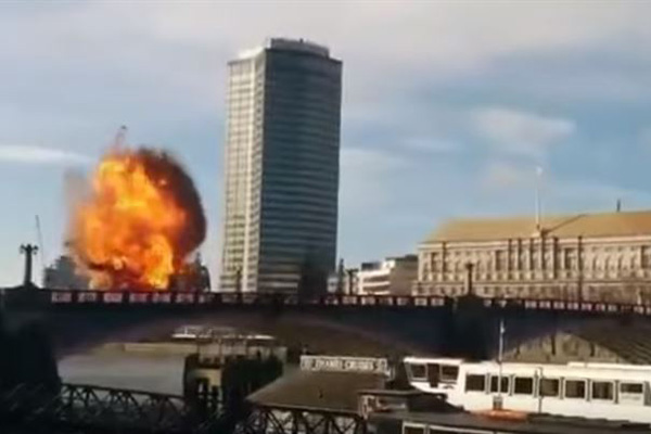 Imagen de la explosión vista en Londres