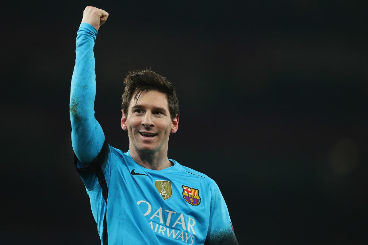 Messi celebra el segundo tanto en Londres. (Getty)
