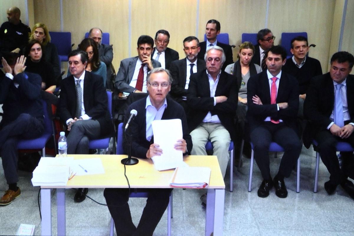 Marco Antonio Tejeiro,  durante su declaración ante el tribunal como acusado (Foto: EFE)