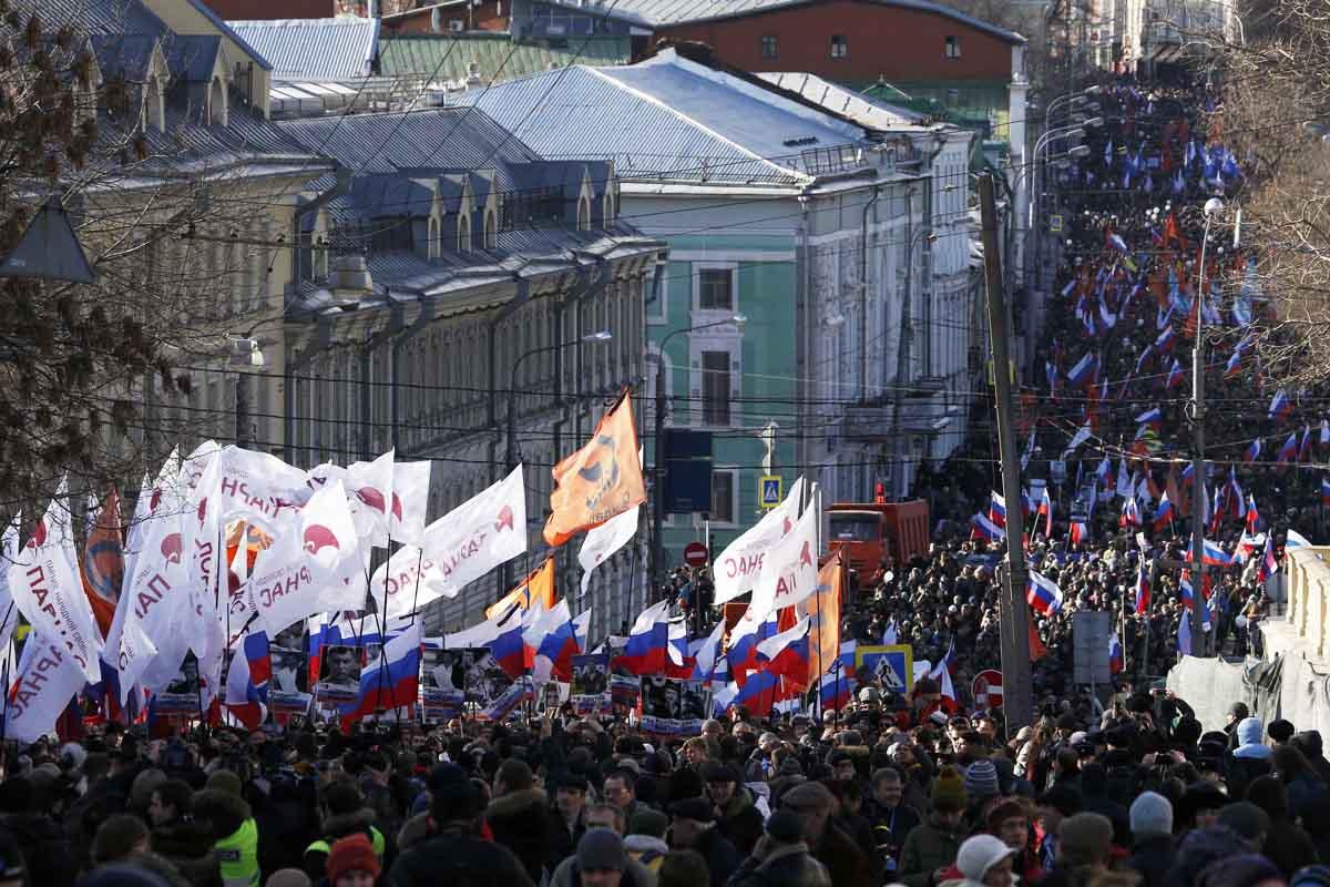 Marcha en las calles de Moscú (Foto: Reuters)