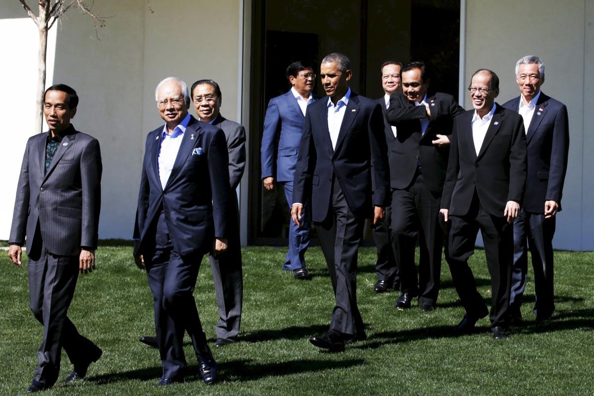 Barack Obama, junto a los líderes asiáticos en una cumbre en California (Foto: Reuters)