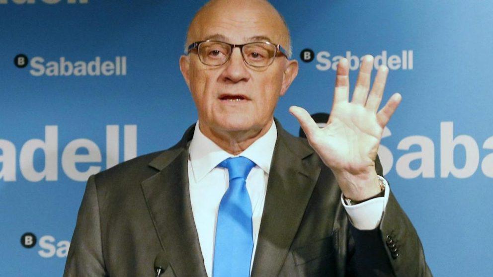 El presidente del Banco Sabadell, Josep Oliú. (Foto: EFE)