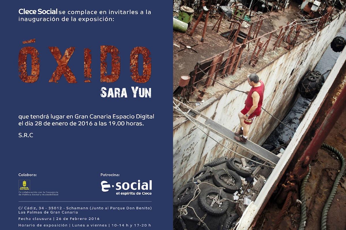Cartel promocional de la exposición «Óxido»
