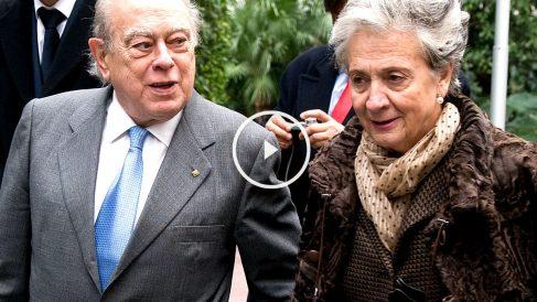 Jordi Pujol y Marta Ferrusola, el pasado 10 de febrero, a su llegada a la Audiencia.
