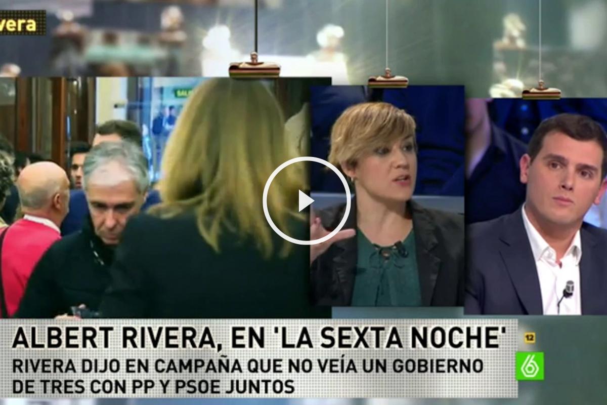 El líder de Ciudadanos, Albert Rivera, durante la entrevista en La Sexta Noche