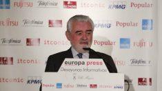Darío Villanueva, director de la RAE, durante unos desayunos informativos de Europa Press. (Foto: EP)