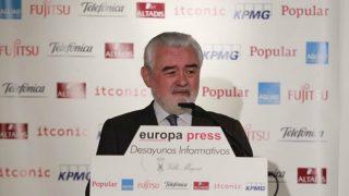 Darío Villanueva, director de la RAE, durante los desayunos informativos de Europa Press. (Foto: EP)