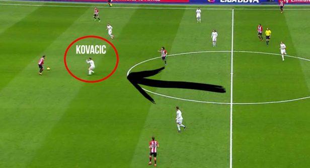 Kovacic, muy importante en la labor de recuperación de balón.
