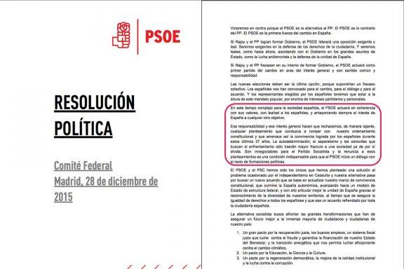 Sánchez debe exigir a Iglesias que renuncie al referéndum independentista antes de negociar