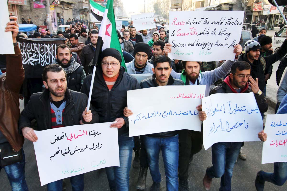Protestas en la ciudad de Alepo (Foto: Reuters)