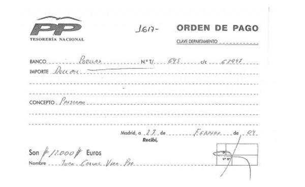 Bárcenas firmó y autorizó el 'préstamo' del que habla Vera