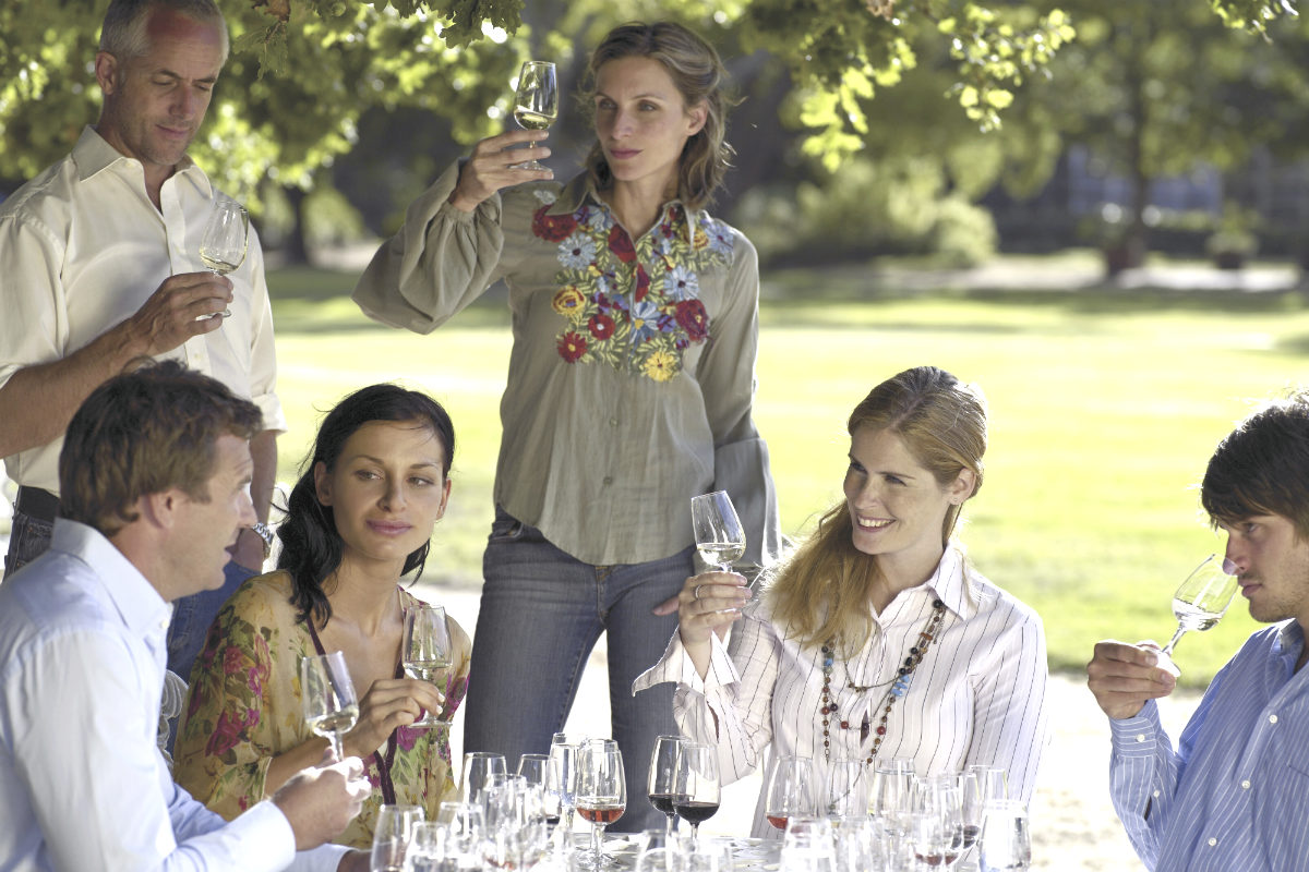 Cata de vinos entre amigos