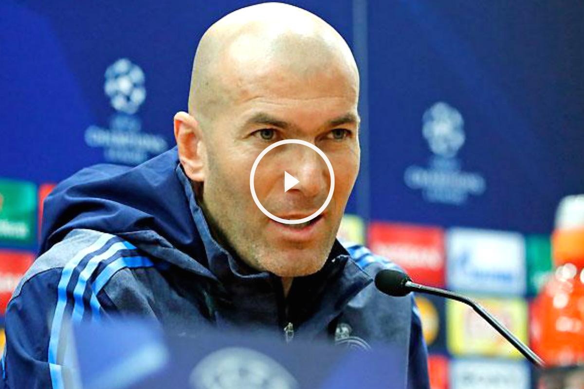 Zidane atiende a los medios de comunicación en Roma. (Foto: Real Madrid)
