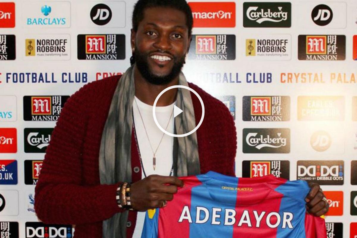 Adebayor es nuevo jugador del Crystal Palace.