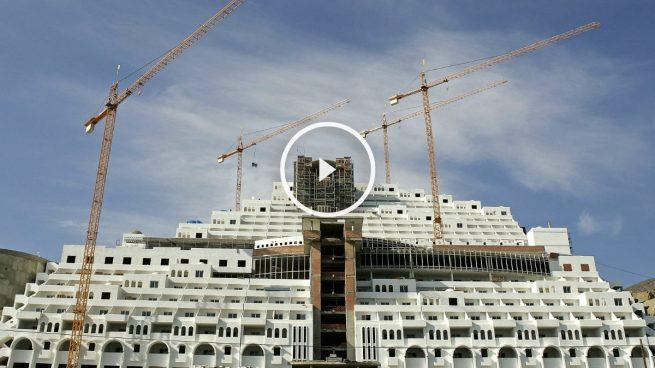El hotel en construcción ilegal de El Algarrobico, en Carboneras, Almería. (Foto: EFE)