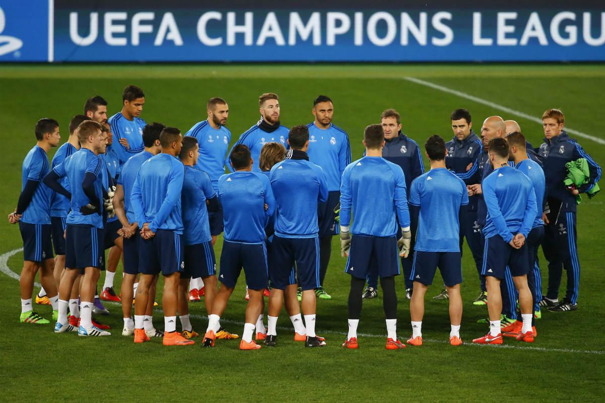 El Real Madrid se entrenó en el Olímpico de Roma. (Reuters)